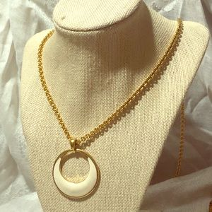 Monet pendant necklace on gold chain
